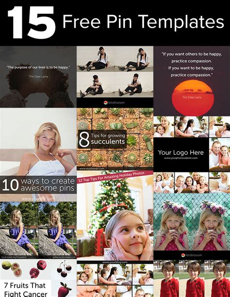 free love templates for photoshop 15 free pinterest pin templates