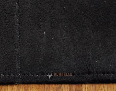 schwarzer fell teppich exklusiver kuhfell teppich schwarz 160 x 100 cm bei