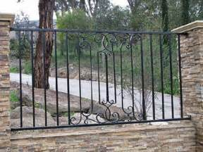 Driveway gate wrought iron fence designs backyard fencing ideas