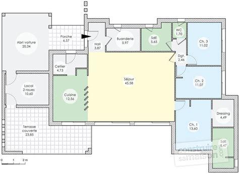 arri鑽e plan du bureau gratuit une maison d architecte aux lignes contemporaines d 233