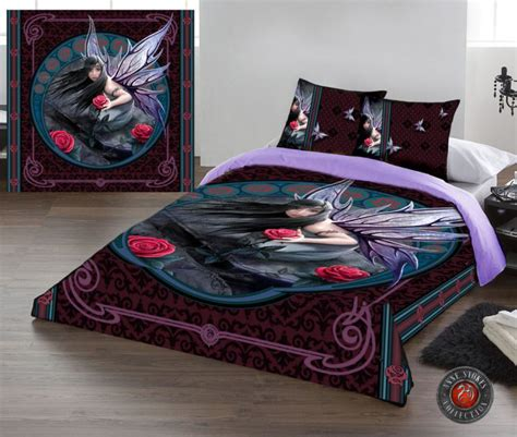 anne stokes bedding anne stokes rose fairy king size duvet cover set us queen