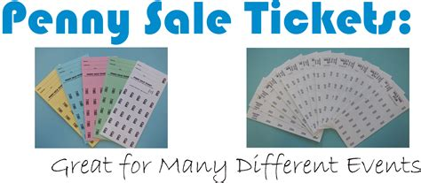 printable penny sale tickets penny sale tickets a consistent seller athens printing