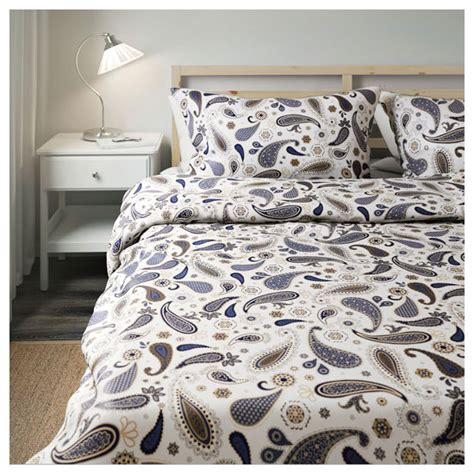 retro bedspreads and comforters sotblomster retro paisley bedding at ikea