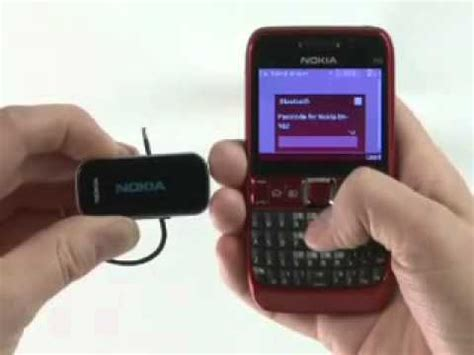 pairing a bluetooth headset with nokia e63