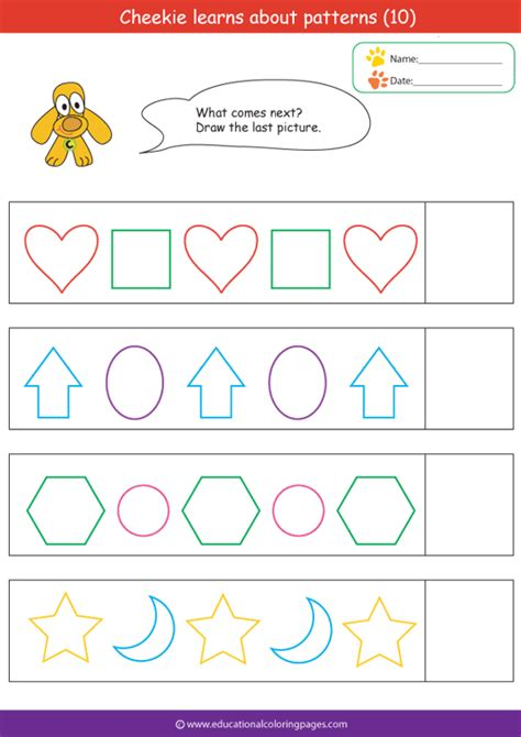 color pattern worksheets for preschool patterns coloring pages coloring pages