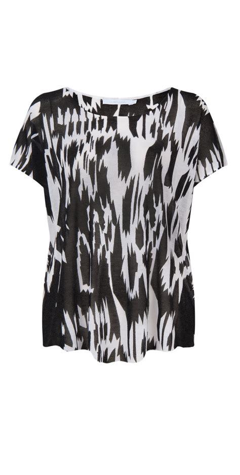 Inka Top 1 vidal inka sleeve top in white black