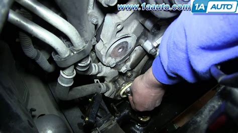 jeep liberty thermostat how to install replace engine coolant thermostat and