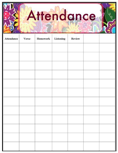sunday school calendar template sunday school attendance sheet template aiyin template