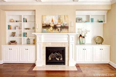 built in shelves living room living room fireplace and built in shelving traditional