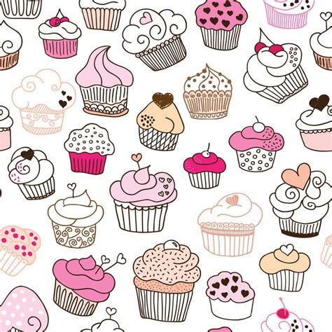 cupcake pattern tumblr vinilo patr 243 n seamless cupcake ilustraci 243 n en vector