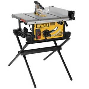 portable table saw home depot dewalt 15 10 in site table saw with scissor stand
