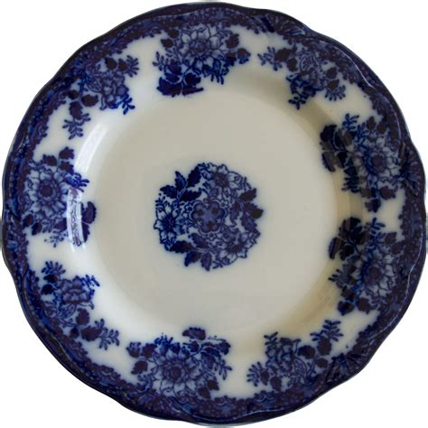 blue pattern pottery gorgeous flow blue plate in waldorf pattern by new wharf