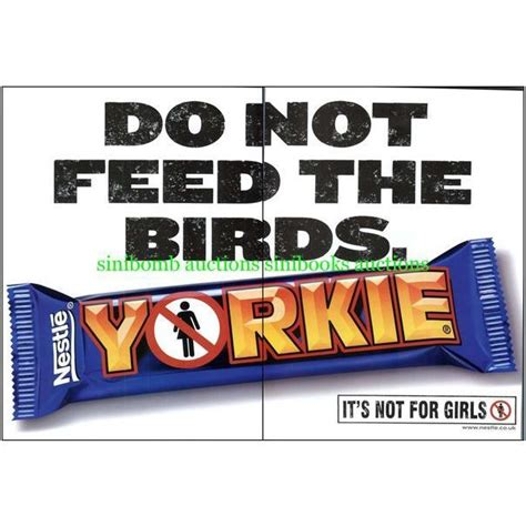 yorkie bar not for yorkie chocolate bar nestle do not feed birds original magazine dps advert 15528 on