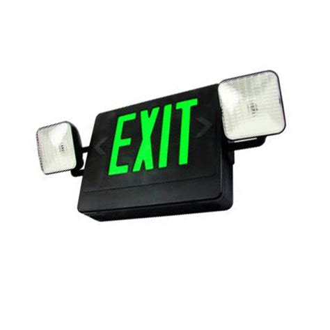 combination emergency exit sign and light with battery backup 120v standard led exit sign emergency light combo battery
