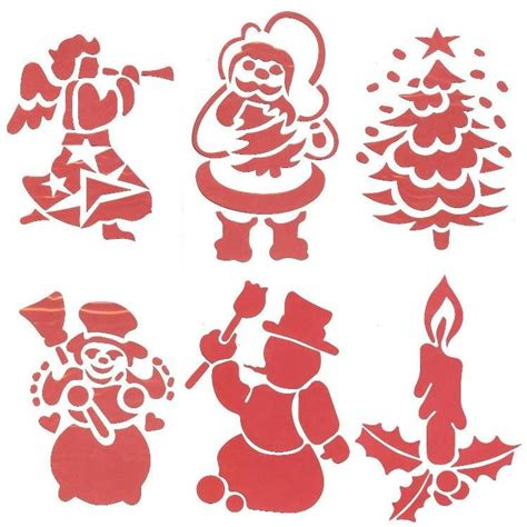 large christmas window stencils xmas decorations set of 6