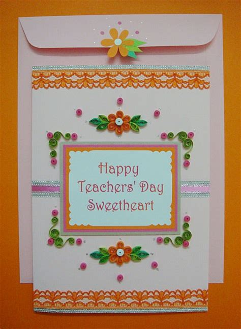 Teachers Day Greeting Cards Handmade - 2017 day card handmade and beautiful cards