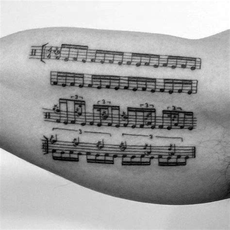 music staff tattoo designs 50 staff designs for musical pitch ink