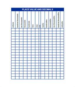 decimal place value chart 8 download free documents in
