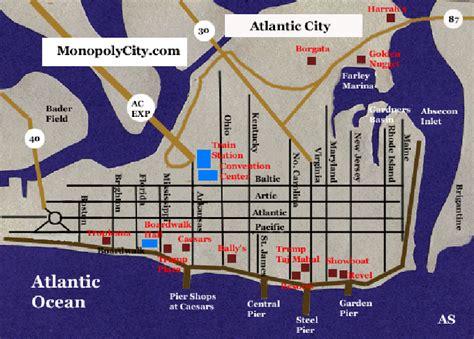 Trump Taj Mahal Floor Plan by Atlantic City Casinos Map