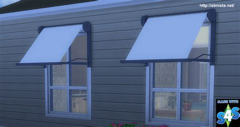 modern window awnings modern window awning at simista 187 sims 4 updates