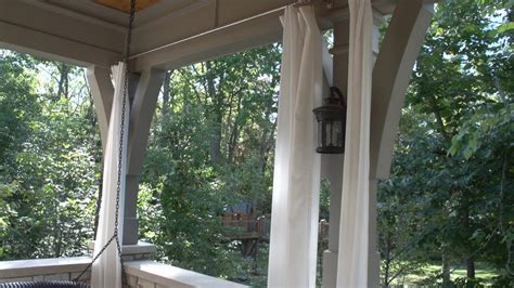 outdoor patio curtain panels how to make outdoor drapery panels youtube