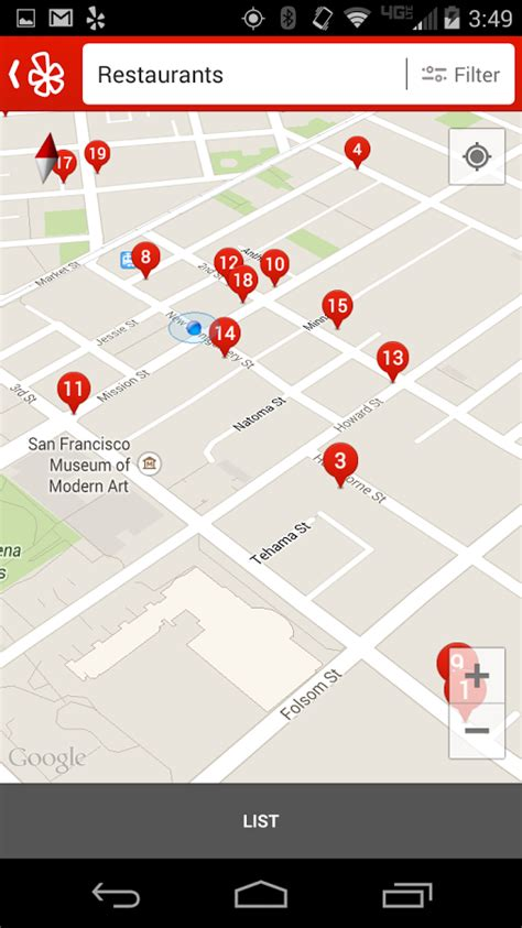 yelp app android yelp para android