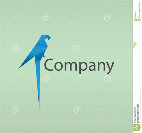 Origami Company - origami bird logo stock vector image of element company
