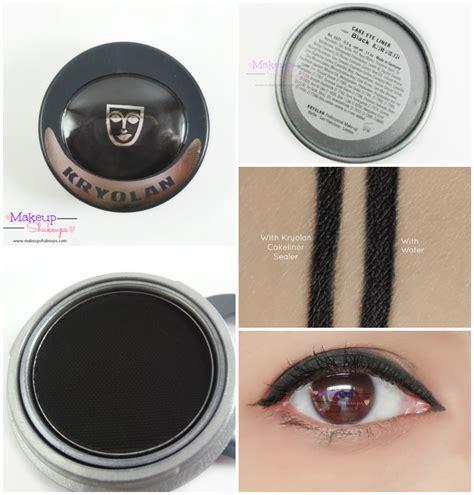 Eyeliner Kryolan makeup shakeups kryolan cake eyeliner in black we
