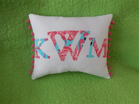 lilly pulitzer home decor fabric new monogram pillow made with lilly pulitzer gimme some