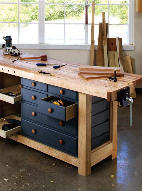 bench magazine shaker workbench popular woodworking magazine