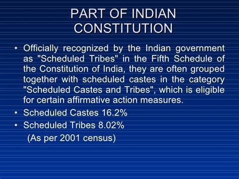 sections of indian constitution trible population and their health issues