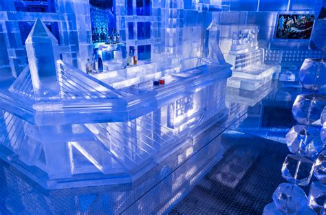 Custom Made Chandelier World S Largest Ice Bar Opens In Boston Lgbtq Travel Blog