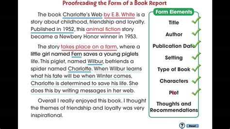 web book report cc7105 how to write a book report proofreading the form