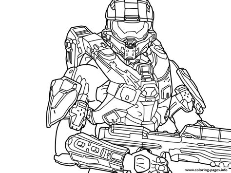 halo 5 free coloring pages printable