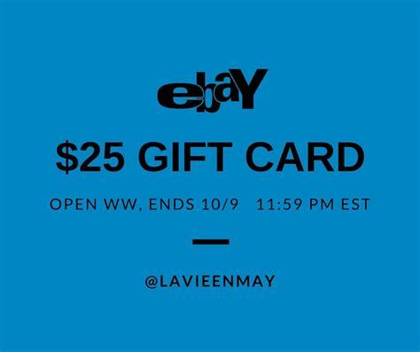 Ebay 25 Gift Card - win a 25 ebay gift card ended la vie en may petite fashionista beauty junkie