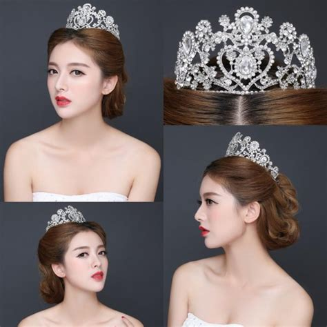 wedding hair accessories dubai hair accessory silver shining bridal growns dubai
