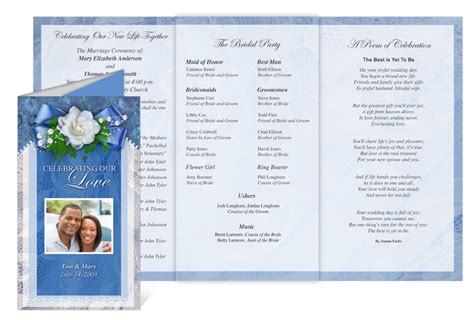 celebration program template celebration of store printable wedding programs with