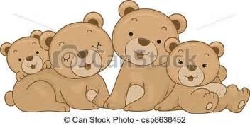 Multi Family Home Plans vector illustration of bear family illustration