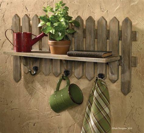 Picket Fence Shelf by Picket Fence Herb Garden Shelf With Hooks