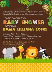 safari baby shower invitation jungle baby shower by modpoddesigns