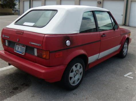 Volkswagen Cabriolet Parts by Purchase Used 1989 Vw Cabriolet Lots Of New Parts Runs