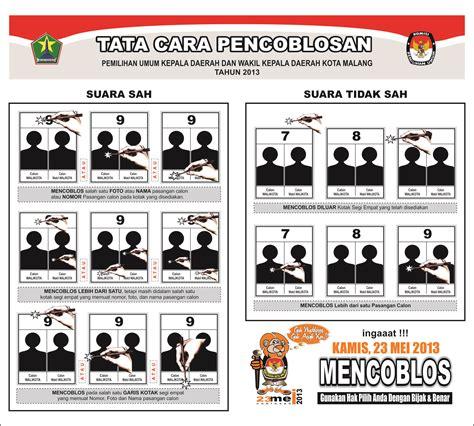 tata cara pencoblosan pada pemilukada kota malang 2013 media center
