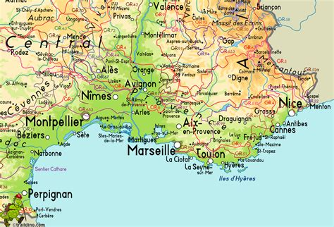 provence map map of provence search hiking maps provence and continents