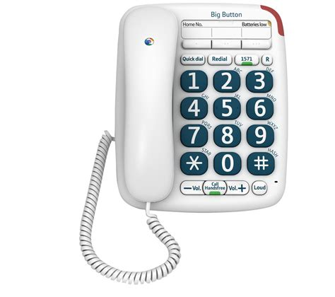 Phone Lookup Uk Bt Bt Big Button 200 Corded Phone