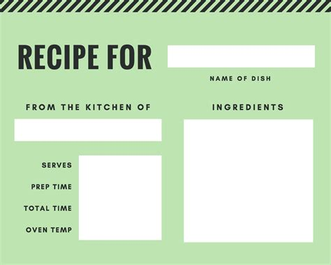 printable recipe card generator free online recipe card maker design a custom recipe card