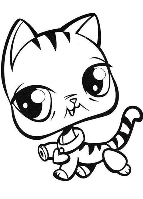 free coloring pages of littlest pet shop husky