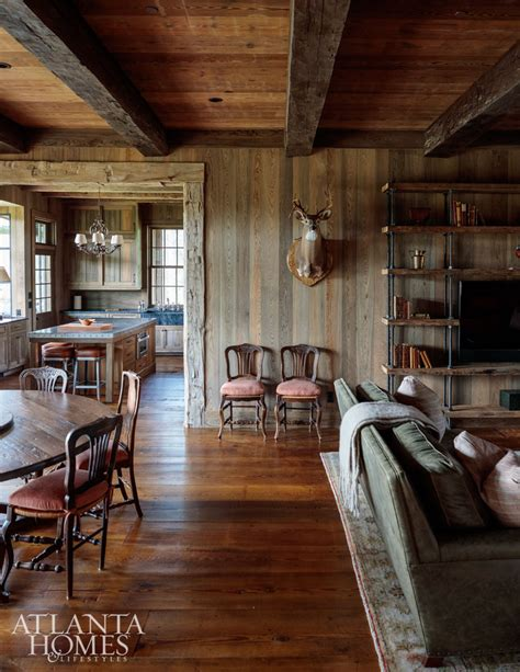 hunting home decor house tour rustic lake wateree hunting lodge design