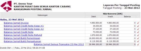 membuat laporan invoice travelbos accounting aplikasi akunting travel agent