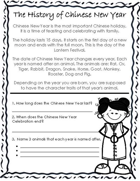 reading comprehension for new year ideas collection new year reading comprehension