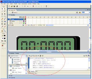membuat jam digital pada flash membuat jam digital dengan flash dimas zone